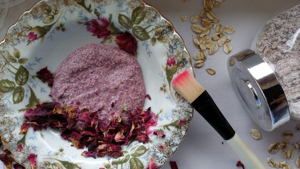 maseczka różano-owsiana